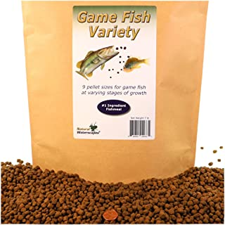 Natural Waterscapes Game Fish Food Variety | Pond and Lake Fish Food Pellets | 7 lb Resealable Bag | Feed to Bass, Bluegill, Trout | Premium Mix of Floating and Sinking Pellets