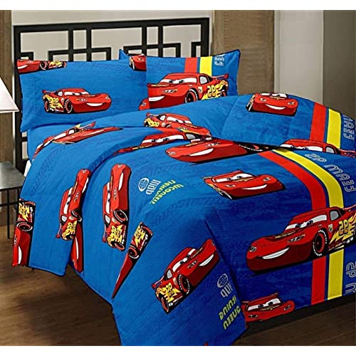 Mahima Furnishing Cars Printed Polycotton Single Bed Reversible Multicolour AC Dohar/Blanket/Quilt For Kids