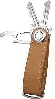 Leather Key Holder Organizer - Compact Folding Key-Chain Multi-Tool Bottle Opener/Folding Leather Key-Chain Smart Key Organizer - Secure Locking Mechanism, Compact, Minimalist Design, Reduce Clutter