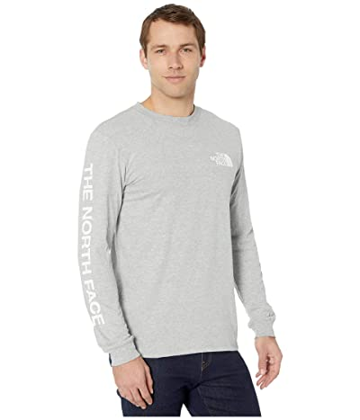 The North Face Long Sleeve TNFtm Sleeve Hit T-Shirt (TNF Light Grey Heather) Men