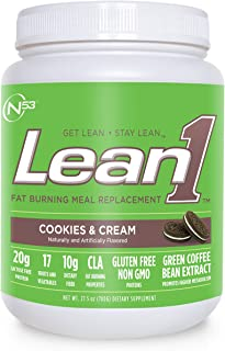 Nutrition 53, Lean1, Cookies & Cream, 15 Serving Tub, 1.98 Pound