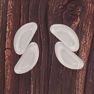 DAUERHAFT - Almohadillas nasales ergonómicas en tamaño y forma Transparentes 20 pares, accesorios para gafas, útiles en la vida diaria