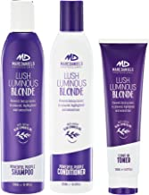 Powerful Purple Shampoo Conditioner with Leave-in Toner – Set. Tones, Prevents..