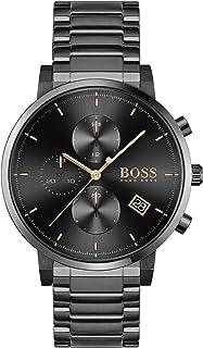 Hugo Boss Black Men'S Black Dial Ionic Plated Black Steel Watch - 1513780