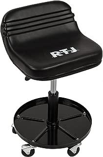 RTJ 300 lbs Capacity Pneumatic Mechanic Roller Seat Adjustable Rolling Stool, Black