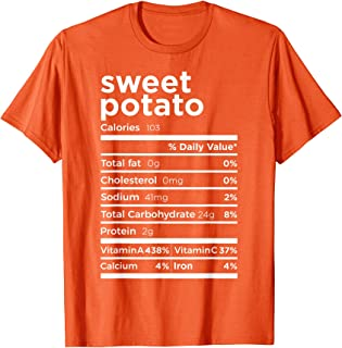 Best Sweet Potato Nutrition Facts Gift Funny Thanksgiving Costume T-Shirt Review
