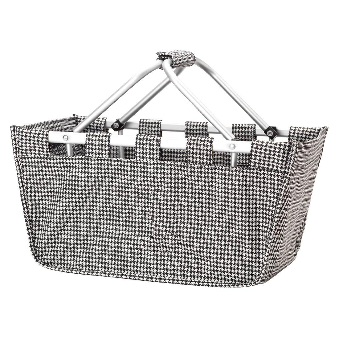 批发精品千鸟牙齿市场手提袋,耐用的可拆卸铝制框架