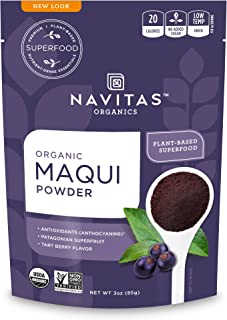 Navitas Organics Maqui Powder, 3 oz. Pouch, 17 Servings — Organic, Non-GMO, Freeze-Dried, Gluten-Free