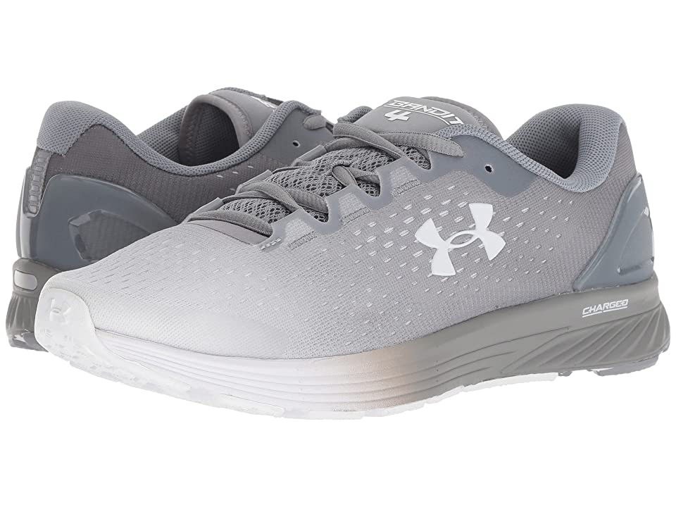 ef1e531261964 Under Armour UA Charged Bandit 4 (White/Steel/Metallic Silver) Women's  Running Shoes