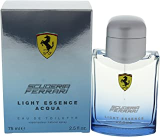 Ferrari Light Essence Aqua Eau De Toilette for Men, 2.5 Ounce