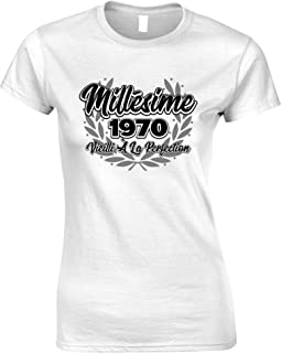 Tim And Ted French Womens Tshirt Millsime 1970 Vieilli La Perfection
