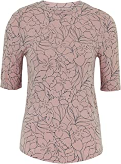 Marks & Spencer Women's Floral Fitted Half Sleeve Top, PINK MIX