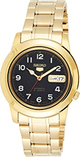 SEIKO Mens Automatic Watch, Analog Display and Stainless Steel Strap SNKK40J1