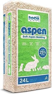 Petspick Aspen Soft Pet Bedding For Small Animals 24l Pet Supplies Amazon Com
