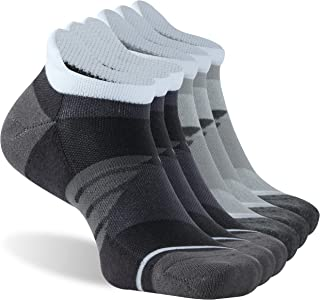 KitNSox Tab Running Socks Mens Womens Low Cut Cushioned Ankle Athletic Sports No Show Socks 6 Pairs