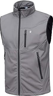 Little Donkey Andy Men's Lightweight Softshell Vest, Windproof Sleeveless Jacket for Travel Hiking Running Golf
