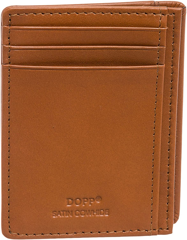 Dopp Leather RFID Protected Front Pocket Wallet Slim Minimalist Wallet Getaway ID Credit Card Holder