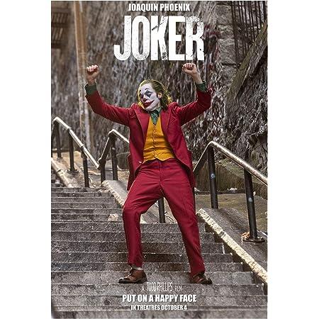 20x30 24x36 Poster Joker Movie Joaquin Phoenix Colorful Smile Art Silk Z-658