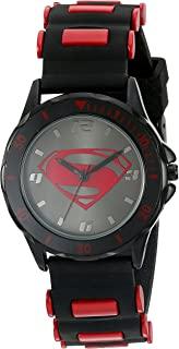 DC Comics Boy's Quartz Metal and Silicone Casual Watch, Color:Black (Model: BVS9018)