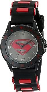 Boy's Quartz Metal and Silicone Casual Watch, Color:Black...