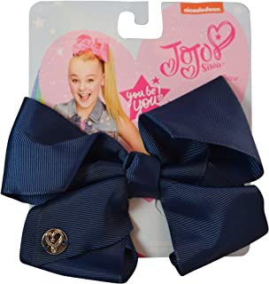 navy bows for hair
