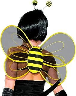 Forum Novelties 78561 Halloween Sexy Bumblebee Sheer Costume Wings Party Supplies, One Size, Black/Yellow