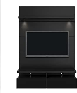 Manhattan Comfort Cabrini Theater Panel 1.2 Collection TV Stand With Drawers Floating Wall Theater Entertainment Center, Black