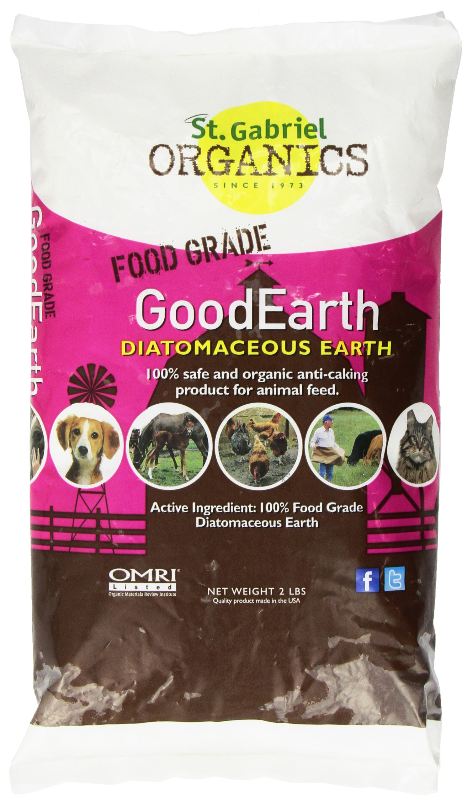 Amazon Com Goodearth Diatomaceous Earth Supplement For Chicken And Farm Animals Net Wt 2 Lbs Pet Wormers Pet Supplies