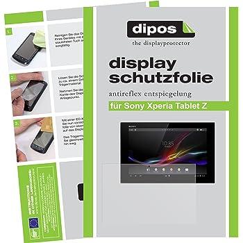 dipos I 2X Schutzfolie matt kompatibel mit Sony Xperia Tablet Z Folie Displayschutzfolie