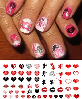 Valentine's Day Nail Decals Assortment Water Slide Nail Art Decals - Nail Salon Quality!
