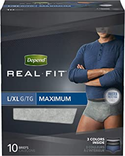 Depend Real Fit Maximum Absorbency Briefs For Men, Large/X-Large 10 ea