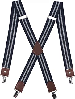 DEOBOX Men Suspender X Back Heavy Duty Formal for Wedding