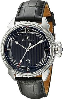 ルシアンピカール腕時計メンズ Lucien Piccard Men's LP-40053-01 Trevi Stainless Steel Watch with Leather Band [並行輸入品]