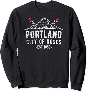 Portland Oregon PDX City Of Roses Mt Hood Sweatshirt