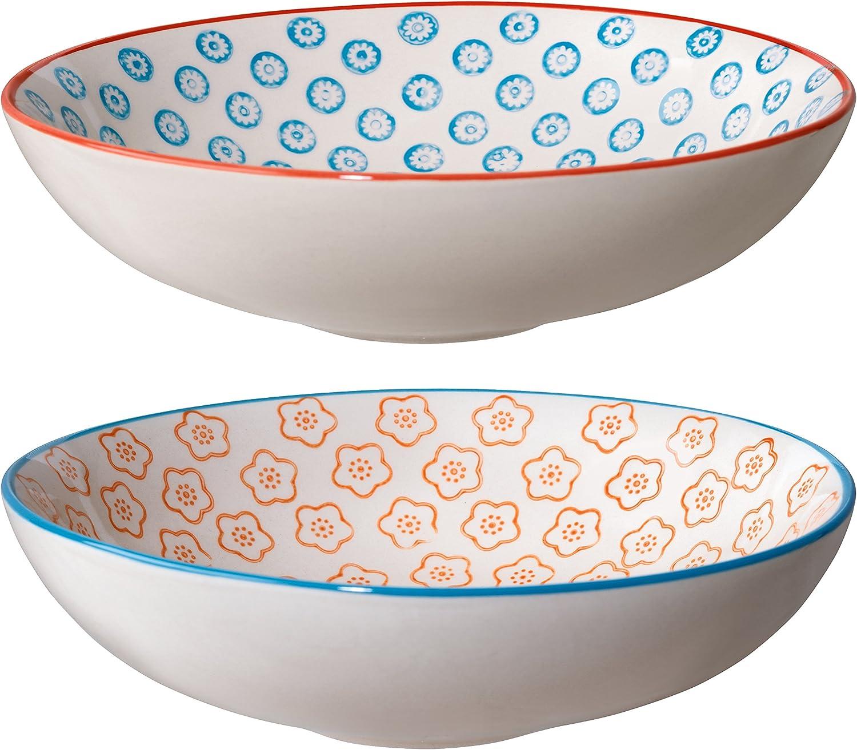 Bloomingville Pasta Bowls Emma Set Styles Classic of Max 82% OFF orange blue 2