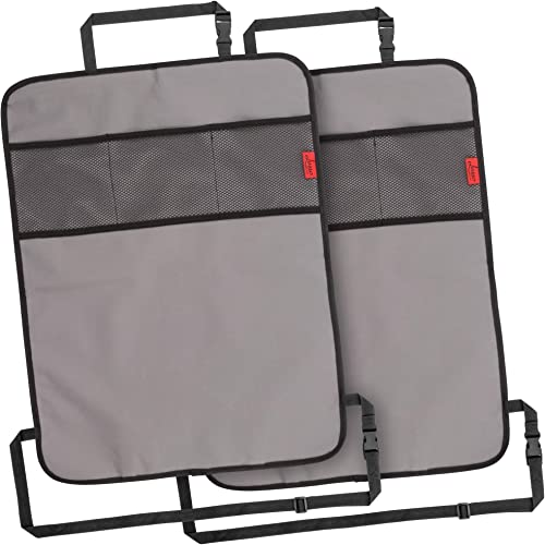 Lusso Gear Heavy Duty Kick Mats Back Seat Protector (2 Pk) - Sag Proof, Waterproof, Odor Proof Car Back Seat Cover fo...