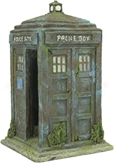 Sunyiny Aquarium Fish Tank Ornament Police Box Decorations For Fish and Shrimp To Cave Hideouts for Hiding