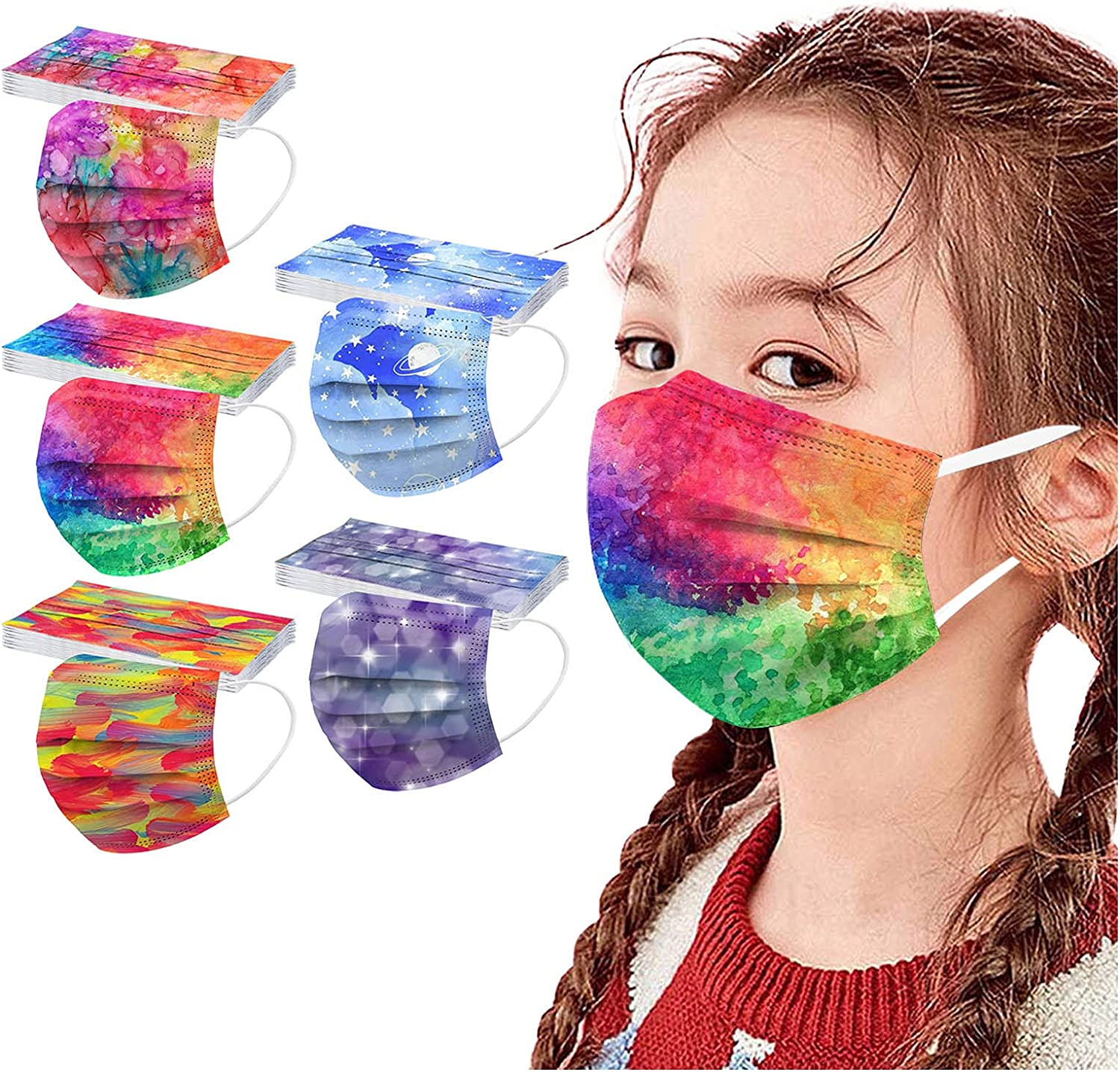 Face_Mask Disposable Fees free Max 46% OFF Kids 50PCS US Stock Printed Face_Ma Cute