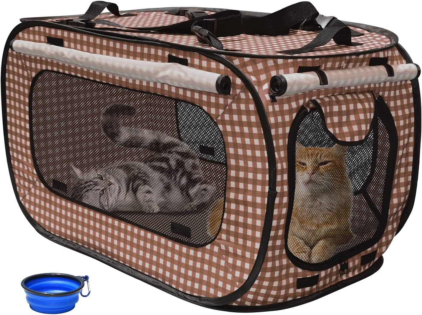 Cheap sale Rolscaler Portable Cat Cage Kennels Cats trust Por Outdoor for Travel