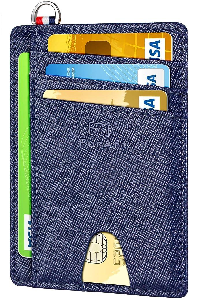 FurArt Slim Minimalist Wallet, Front Pocket Wallets, RFID Blocking, Credit Card Holder with Disassembly D-Shackle ejce9815207418
