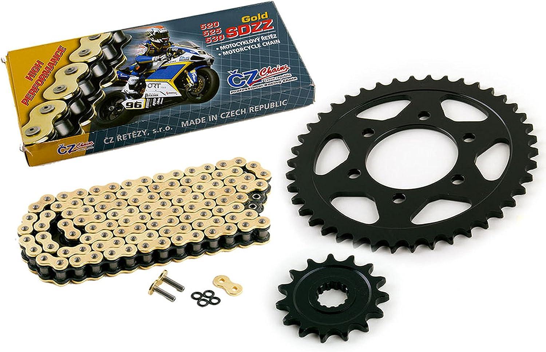Over item handling Year-end annual account 2012 Kawasaki ZR1000 Z1000 CZ SDZZ Gold Sprocket Chain X Ring