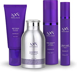 NxN Total Moisture 4-Step Anti-Aging & Dry Skin Treatment System, With Coconut, Coffee, Green Tea, Licorice Root, Sea Buckthorn Oil, Squalane, Blueberry & Grape Seed Extract