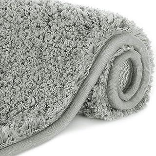 "Lifewit 32""x20"" Bath Mats Soft Microfiber Non-Slip Bathroom Rug Water Absorbent, Grey"