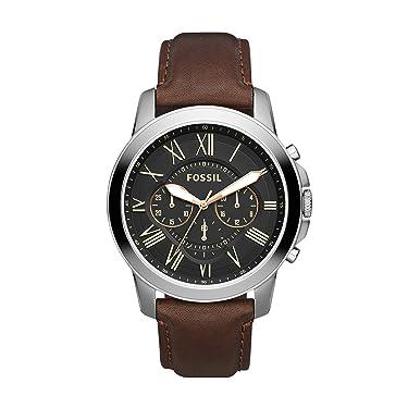 Fossil Grant - Reloj de cuarzo con cronógrafo de acero inoxidable para hombre