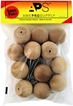 Wooden Ball Knobs - Arts and Crafts, Woodworking Projects, Drawers or Dressers Unfinished Natural Wood Knob Round 12 Pieces (1.5 Inch) (12)