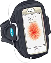 Tune Belt Armband for iPhone SE 5s 5 5c 4S 4 Fits with OtterBox Defender, Commuter or Other Large Case - for Running & Working Out - Sweat-Resistant [Black]