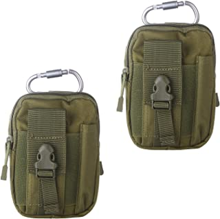 Tactical Molle EDC Pouch 1000D Belt Waist Bag,Camping Hiking Outdoor Gear with Cell Phone Holster Holder