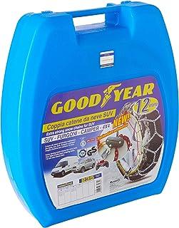 Goodyear 77933 snökedjor 12 mm för SUV, skåpbilar och husbilar med självspänningssystem, storlek 235