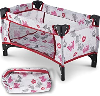 Litti Pritti Take Along Travel Crib Pack and Play Accessory for Dolls - Perfect for 18
