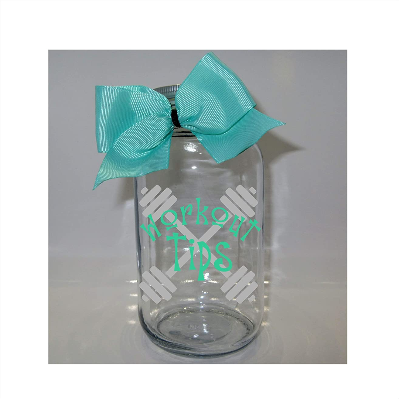 Workout Tips Mason Jar Bank - Coin Slot Lid - Available in 3 Sizes